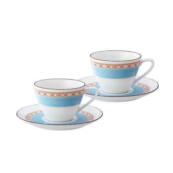 Noritake(ノリタケ)/ハミングブルー ティー・コーヒーカップ&ソーサー ペアセット(2客組)|洋食器 コーヒーカップ・カップ&ソーサー