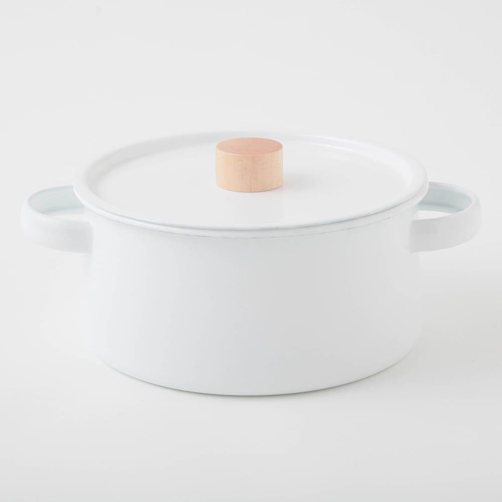 小泉誠・kaico(カイコ)/ホーロー(琺瑯)両手鍋 鍋・土鍋