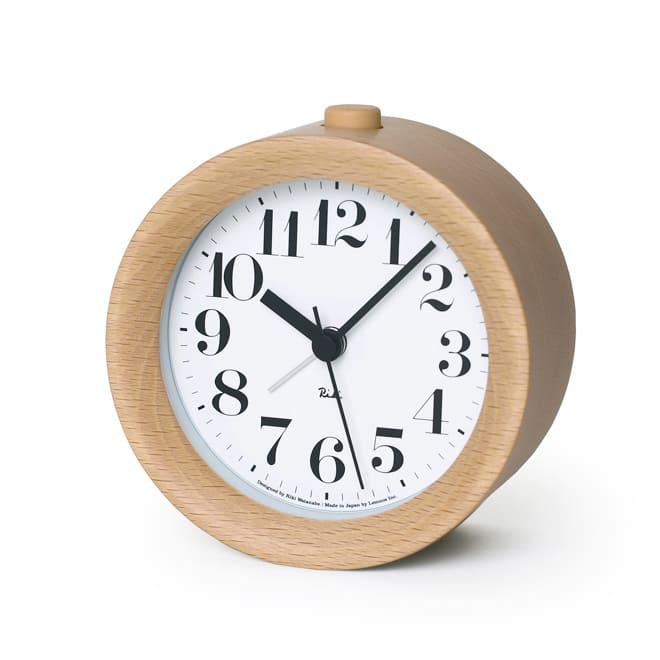 Lemnos(レムノス)RIKI ALARM CLOCK アラーム時計  ナチュラル 置き時計・目覚まし時計