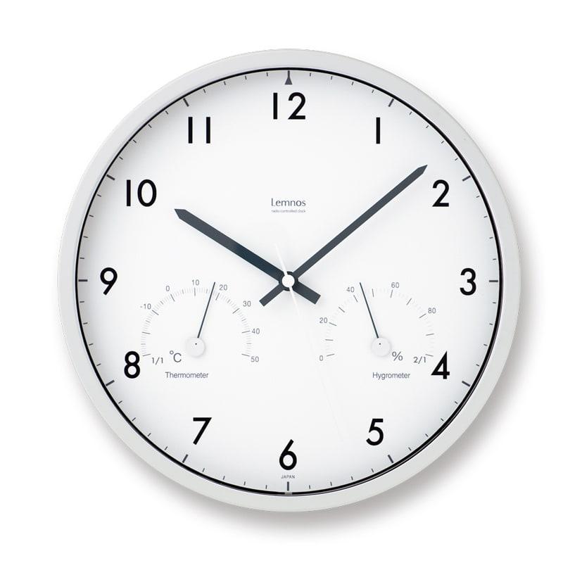 Lemnos(レムノス)Air clock ウォールクロック壁掛け電波時計