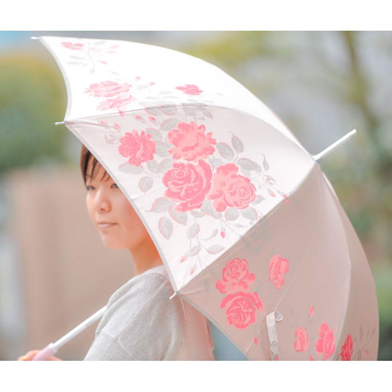創業1866年槙田商店/ジャカード織 晴雨兼用長傘(UVカット加工) 絵おり 薔薇 世界中で愛される薔薇の花。その優雅で華麗な花姿、香りたつ美しさをイメージして織りえがきました
