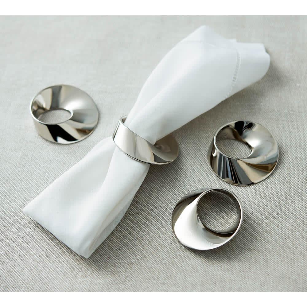 PHILIPPI(フィリッピ)/ナプキンリング4個セット 使用イメージ ※ナプキンは商品に含まれません。