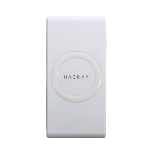 HACRAY(ハクライ)/ワイヤレス充電器+モバイルバッテリー Cable-Free Mobile Battery 7000 (イ)ホワイト