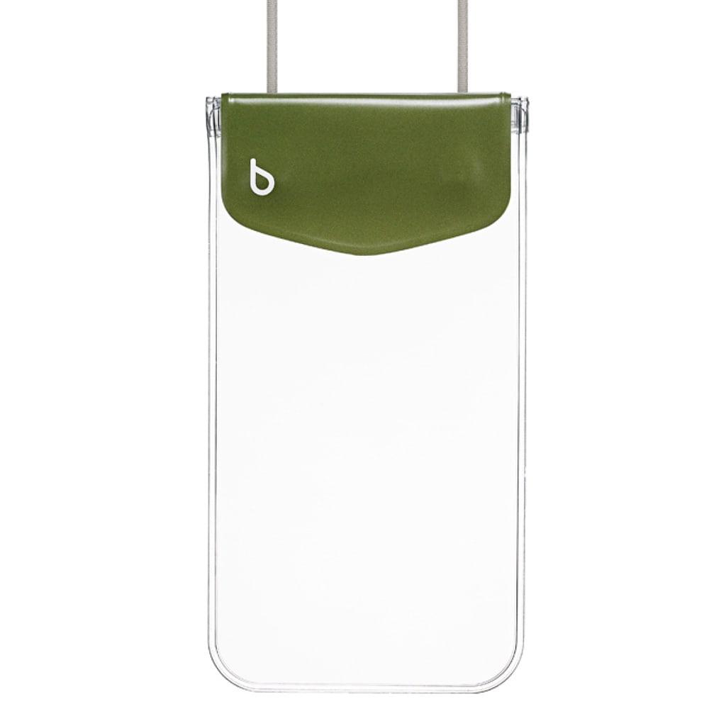 スマートフォン用防水ポーチ カジュアル bikit (エ)カーキ