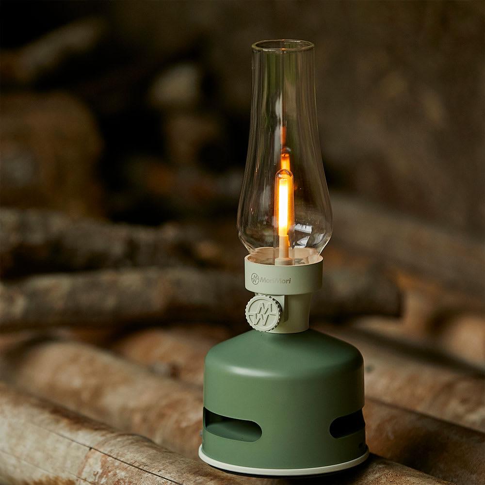 ワイヤレス LEDランタン Bluetoothスピーカー (イ)グリーン