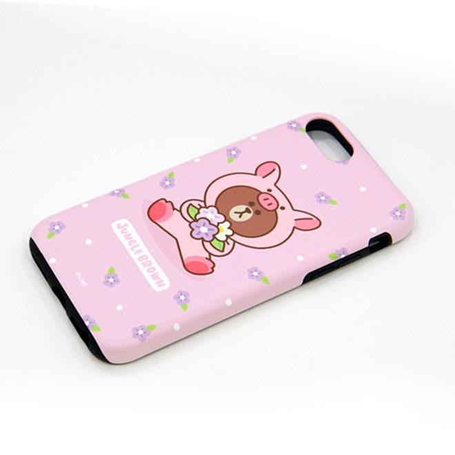 iPhone 8/7用 スマホケース ジャングルブラウン|LINE FRIENDS(ラインフレンズ) (イ)ブタ