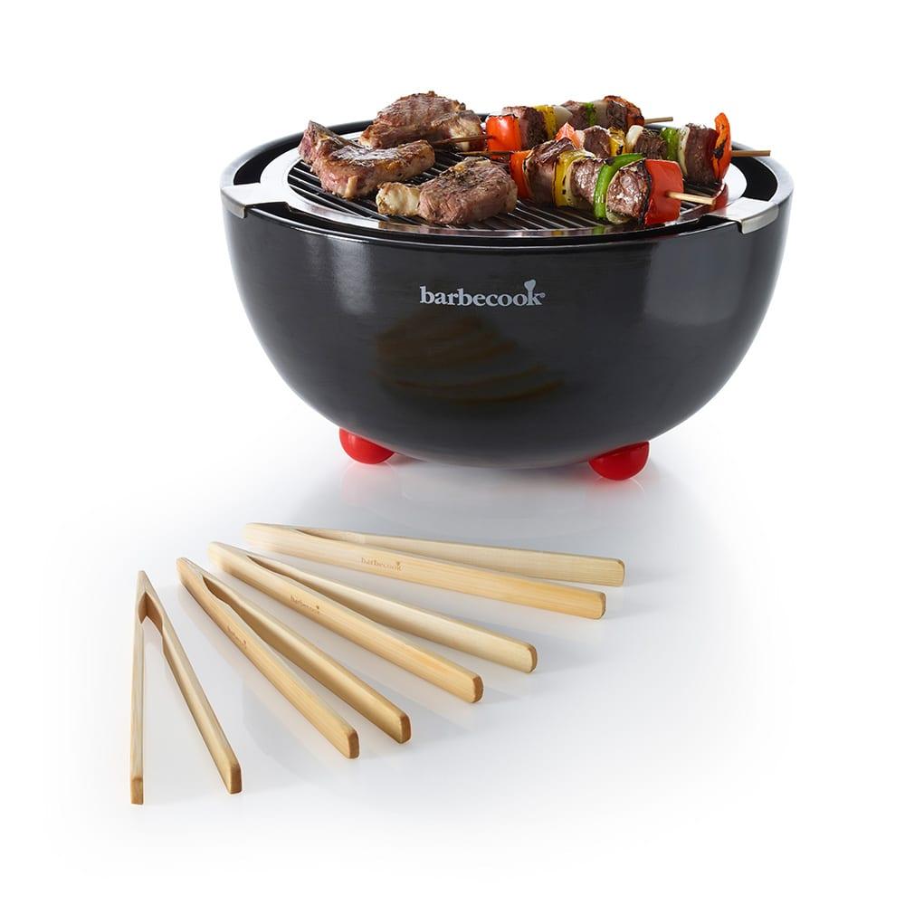 barbecook(バーべクック)/ジョヤ 卓上BBQグリル (イ)ブラック (※竹製トング4本付き)