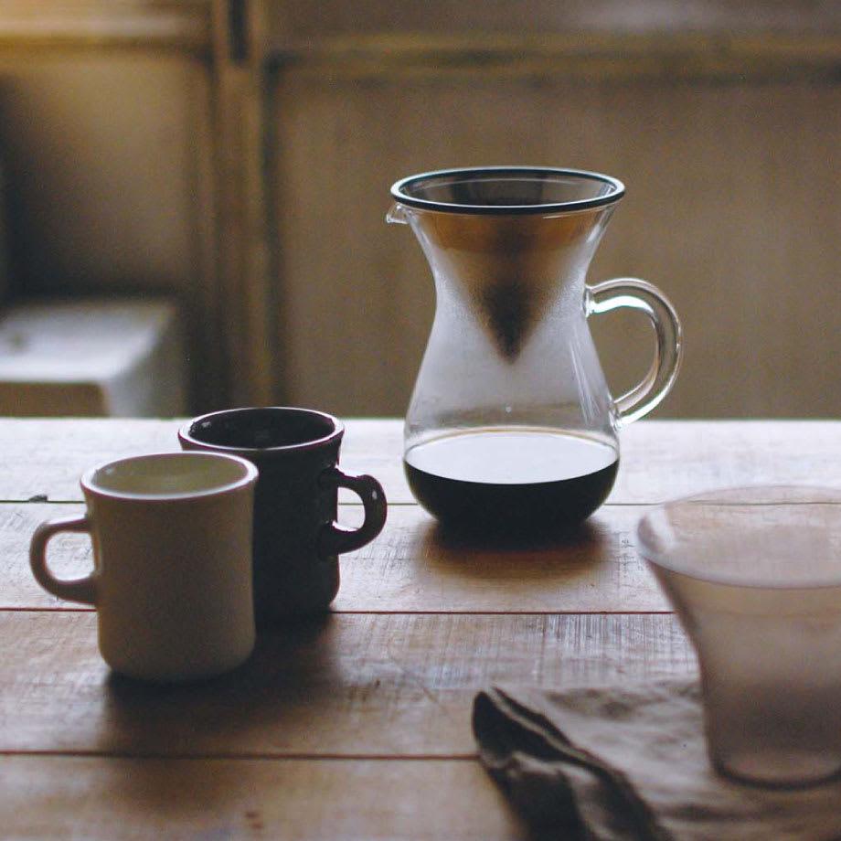 KINTO スローコーヒースタイル コーヒーカラフェセット600ml 空間になじむやわらかなデザイン
