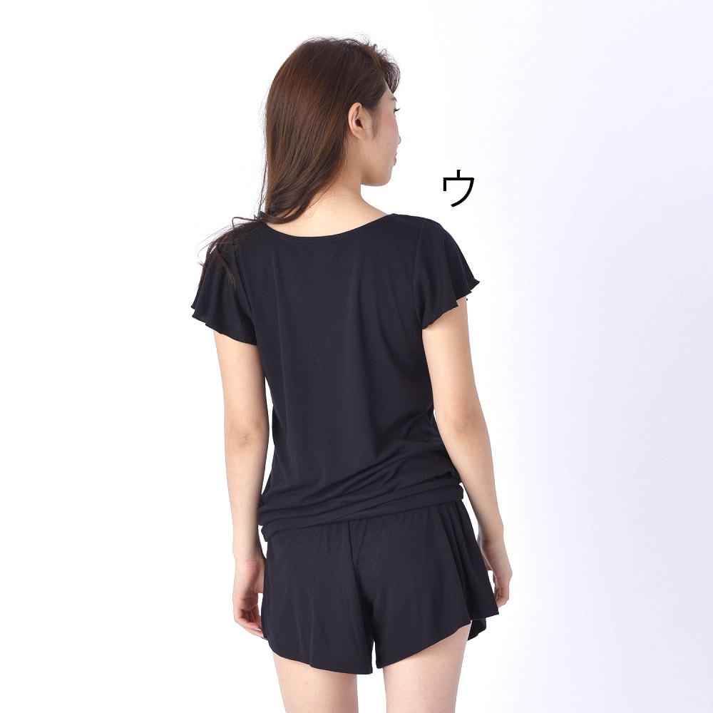 BENETTON(ベネトン)/接触冷感ラッシュTシャツ ショートパンツ付きセットアップ (ウ)Back