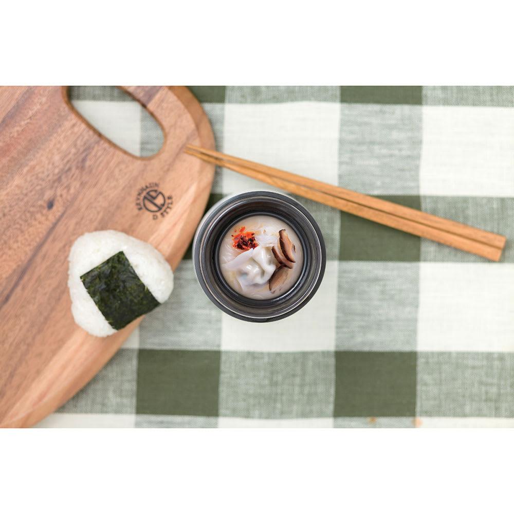 スープマグ 400ml 使用例:具だくさんの生姜入りぽかぽか餃子