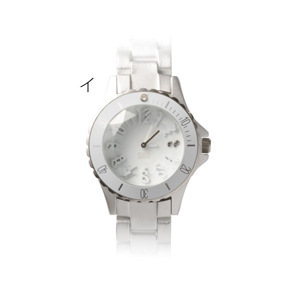 シロ エノグ ダイバースタイルウォッチ 腕時計[SIRO] イ:シルバー