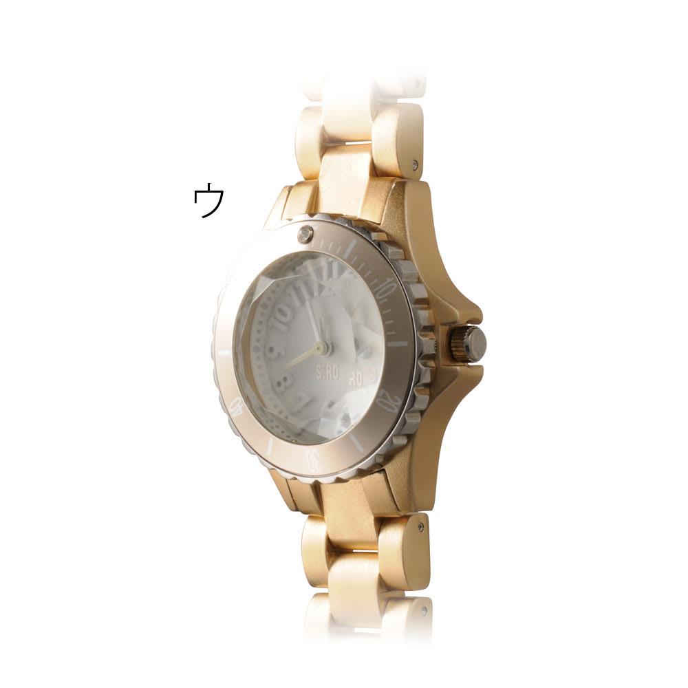 シロ エノグ ダイバースタイルウォッチ 腕時計[SIRO] ウ:ゴールド