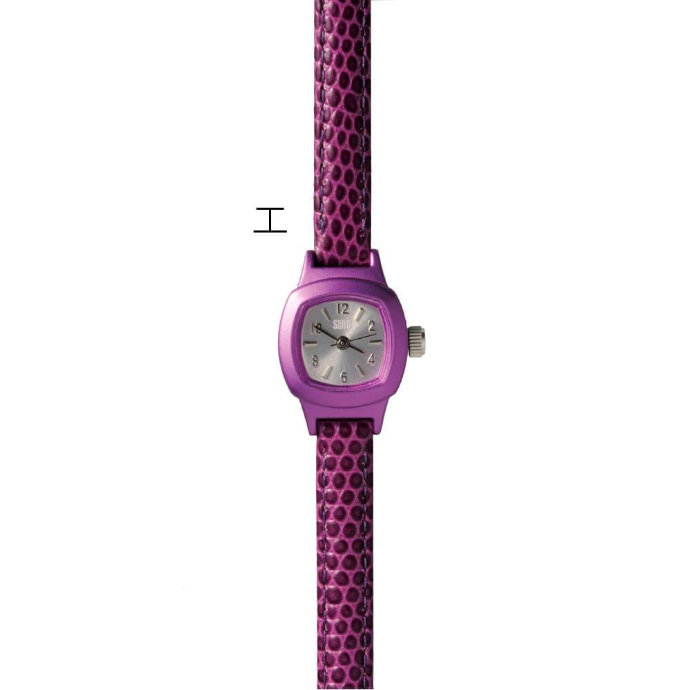 シロ エノグ ウォッチシカク 腕時計[SIRO] エ:パープル