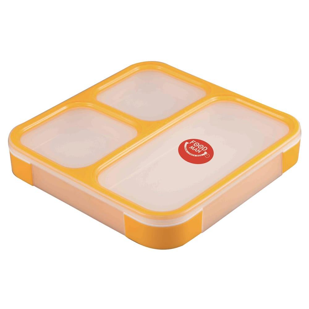 薄型弁当箱 フードマン Lサイズ (イ)イエロー