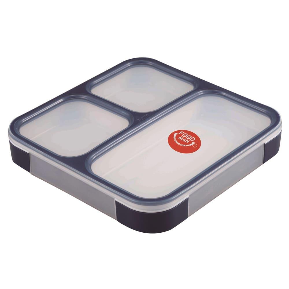 薄型弁当箱 フードマン Lサイズ (ウ)ネイビー