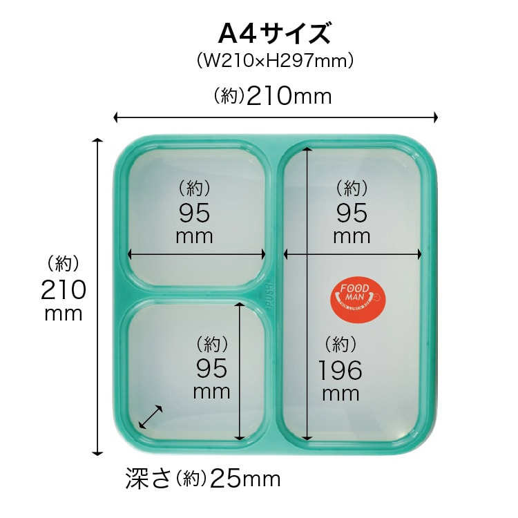 薄型弁当箱 フードマン Lサイズ