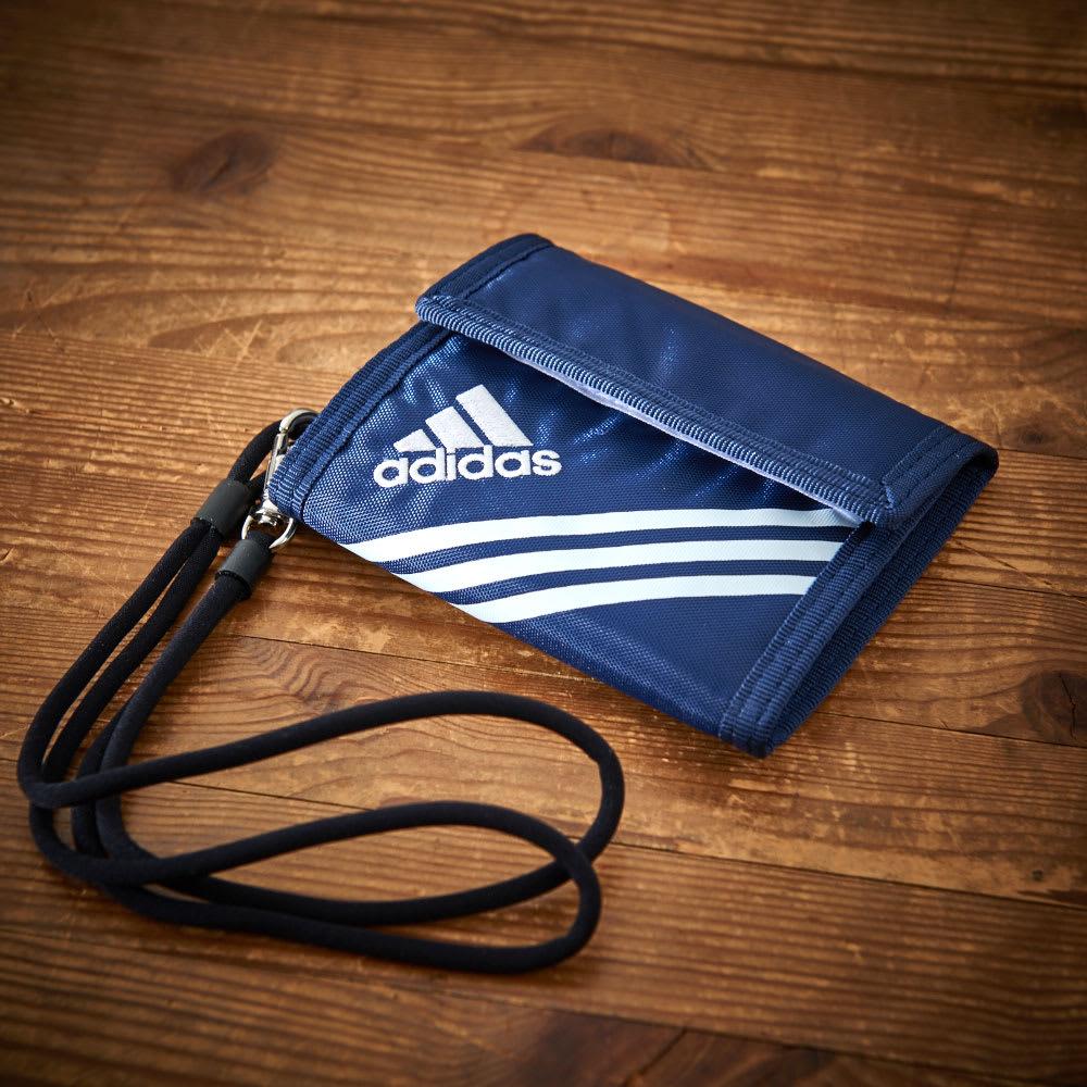 adidas(アディダス)/ウォレットコード付 かぶせ財布 (イ)ネイビー