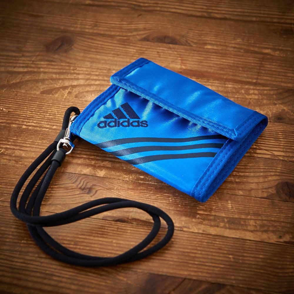 adidas(アディダス)/ウォレットコード付 かぶせ財布 (エ)ブルー