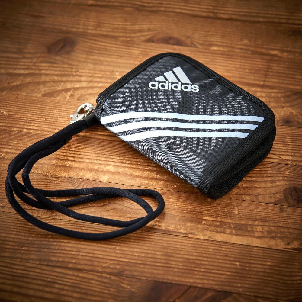 adidas(アディダス)/ウォレットコード付 二つ折り財布 (ア)ブラック