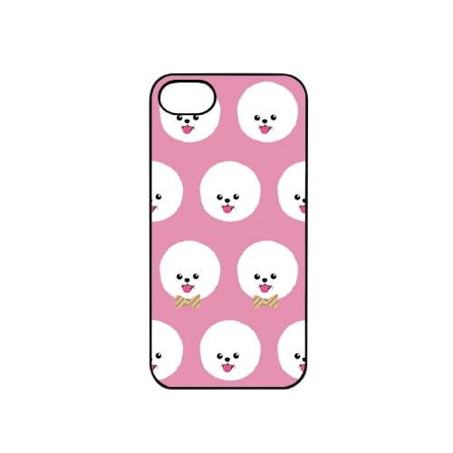 iPhone7 ブラックケース (ア)Fashionable Dog ビションフリーゼ