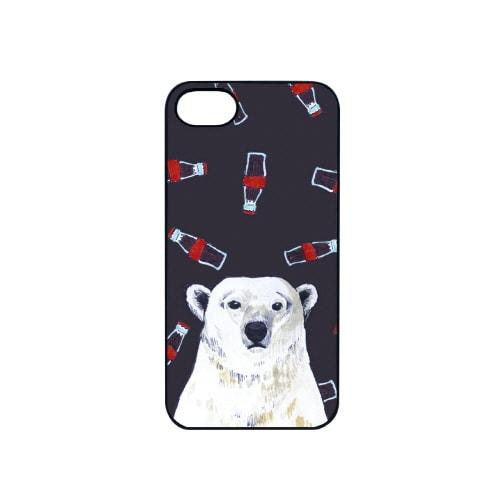 iPhone7 ブラックケース (カ)白熊とコーラ