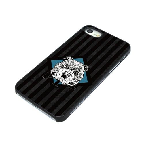 iPhone7 ブラックケース (ク)ブルドッグ
