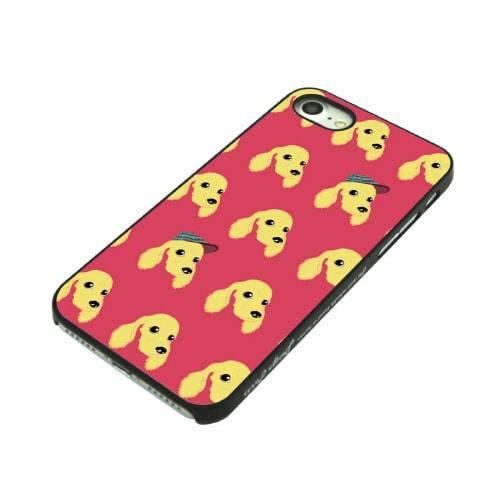 iPhone7 ブラックケース (ウ)Fashionable Dog コッカースパニエル