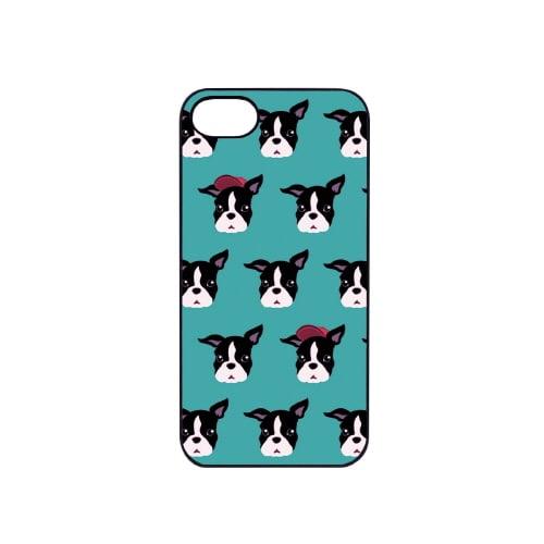 iPhone7 ブラックケース (エ)Fashionable Dog フレンチブルドッグ