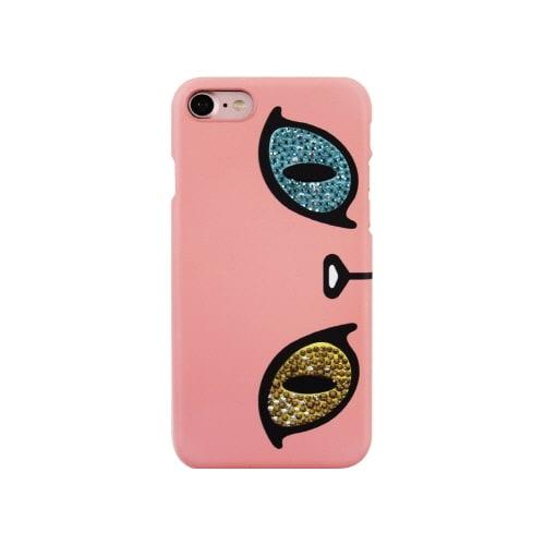 iPhone7 キラキラ オッドアイケース (ウ)ピンク