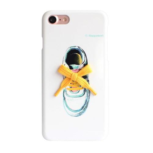 iPhone7 ビビッドバーケース (イ)ランニングシューズ(靴ひもイエロー)