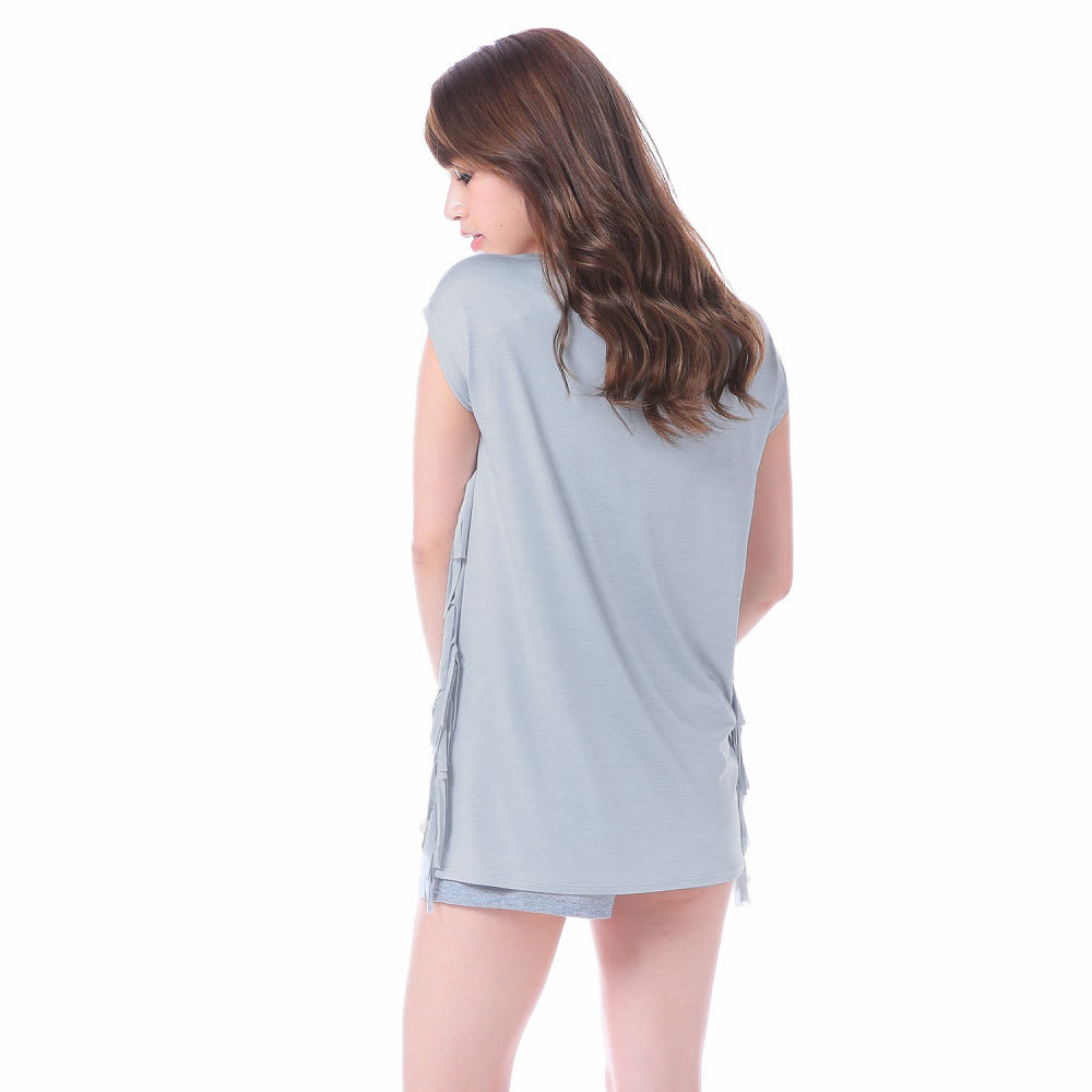 FILA(フィラ)/水陸両用フリンジTシャツ (ウ)ホワイト/Back