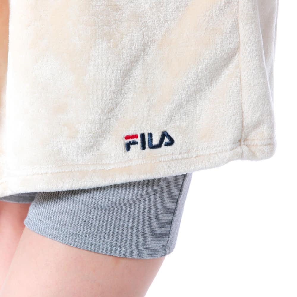 FILA(フィラ)/ふわもこタオルカーデ (ア)ロゴ刺繍