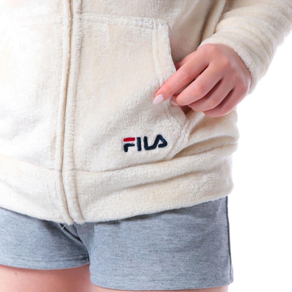 FILA(フィラ)/ふわもこタオルパーカー (ア)ロゴ刺繍