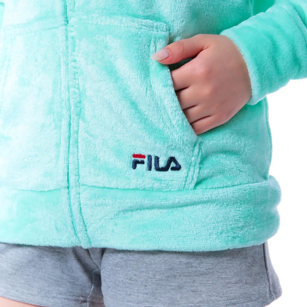 FILA(フィラ)/ふわもこタオルパーカー (イ)ロゴ刺繍