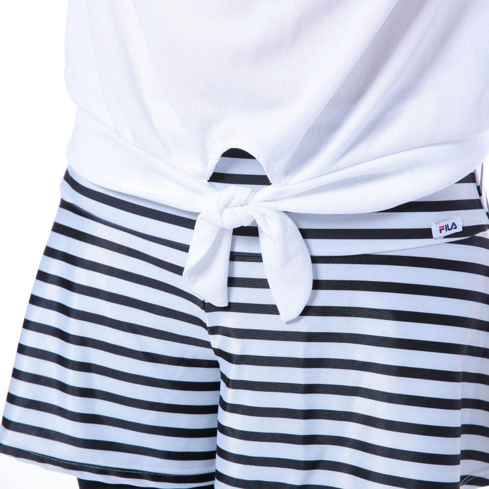 FILA(フィラ)/水陸両用ブラトップ・Tシャツ・ショートパンツ・レギンス4点セット (ア)ホワイト