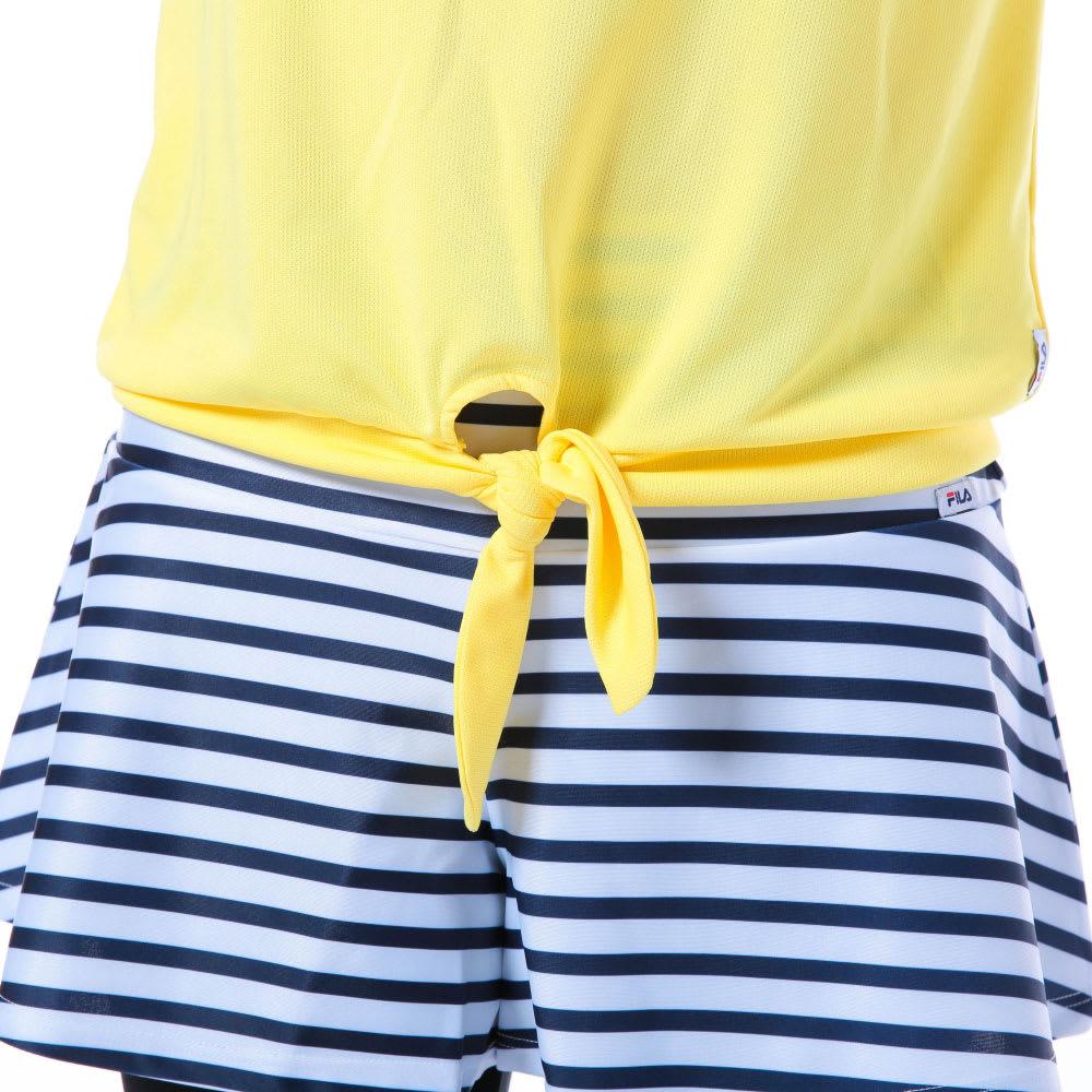 FILA(フィラ)/水陸両用ブラトップ・Tシャツ・ショートパンツ・レギンス4点セット (イ)イエロー
