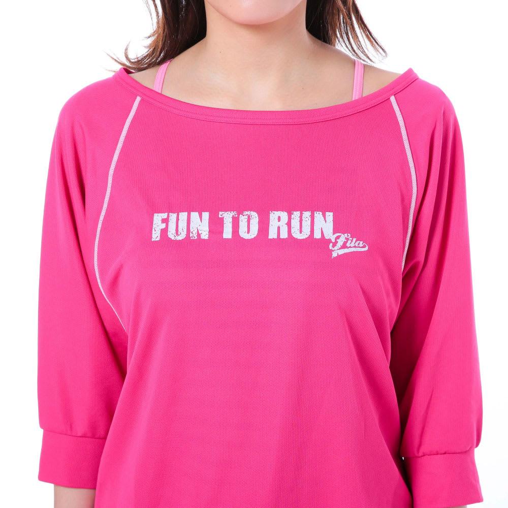 FILA(フィラ)/水陸両用ブラキャミ・Tシャツ・ショートパンツ・レギンス4点セット (イ)ピンク