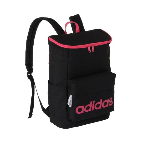 adidas(アディダス)/スクエアタイプリュック(20L) (ケ)ブラック×ピンク