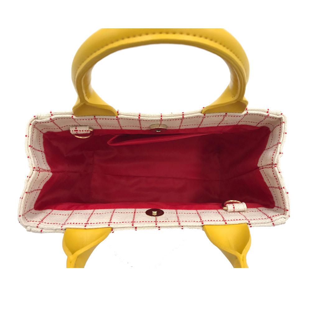ワチャマコリ グラフチェックトートバッグ Sサイズ (ウ)Inside