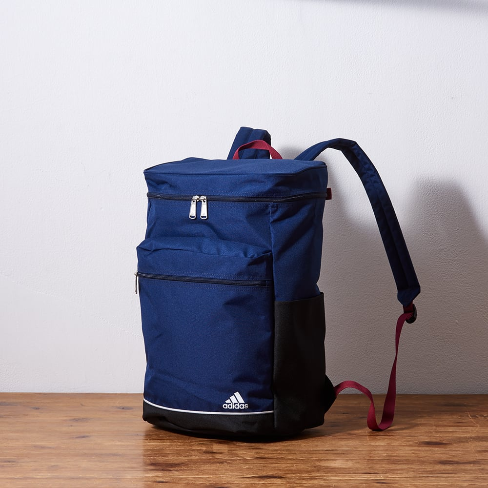 adidas(アディダス)/スクエア型リュックサック (イ)ネイビー