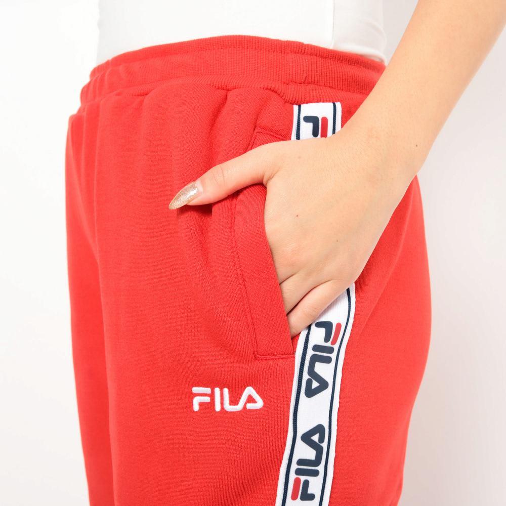 FILA(フィラ)/裏起毛サイドPTジャージパンツ (ア)レッド