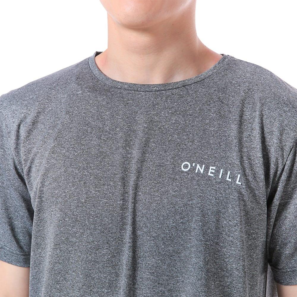O'NEILL(オニール)/杢調半袖メンズラッシュTシャツ (ア)ブラック