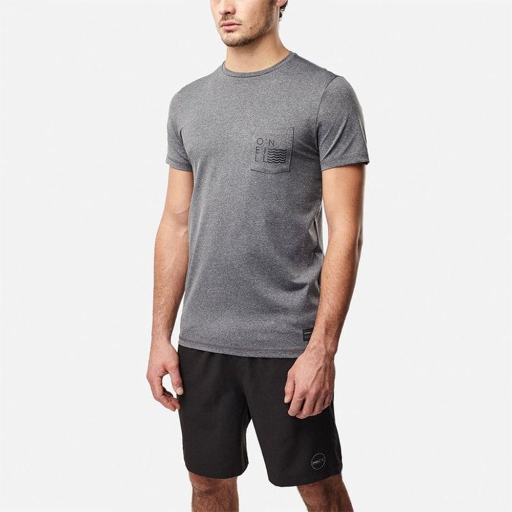 O'NEILL(オニール)/UPF50+肌を守れるメンズシンプルUVTシャツ (ア)グレー