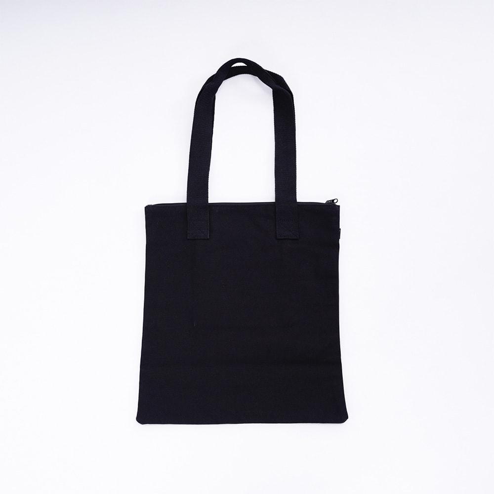 O'NEILL(オニール)/コットン素材ファスナー付きトートバッグ (ア)ブラックホワイト