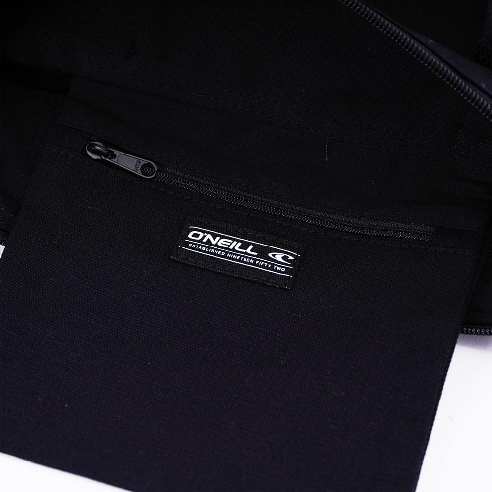 O'NEILL(オニール)/コットン素材ファスナー付きトートバッグ (ア)ブラック×ホワイト