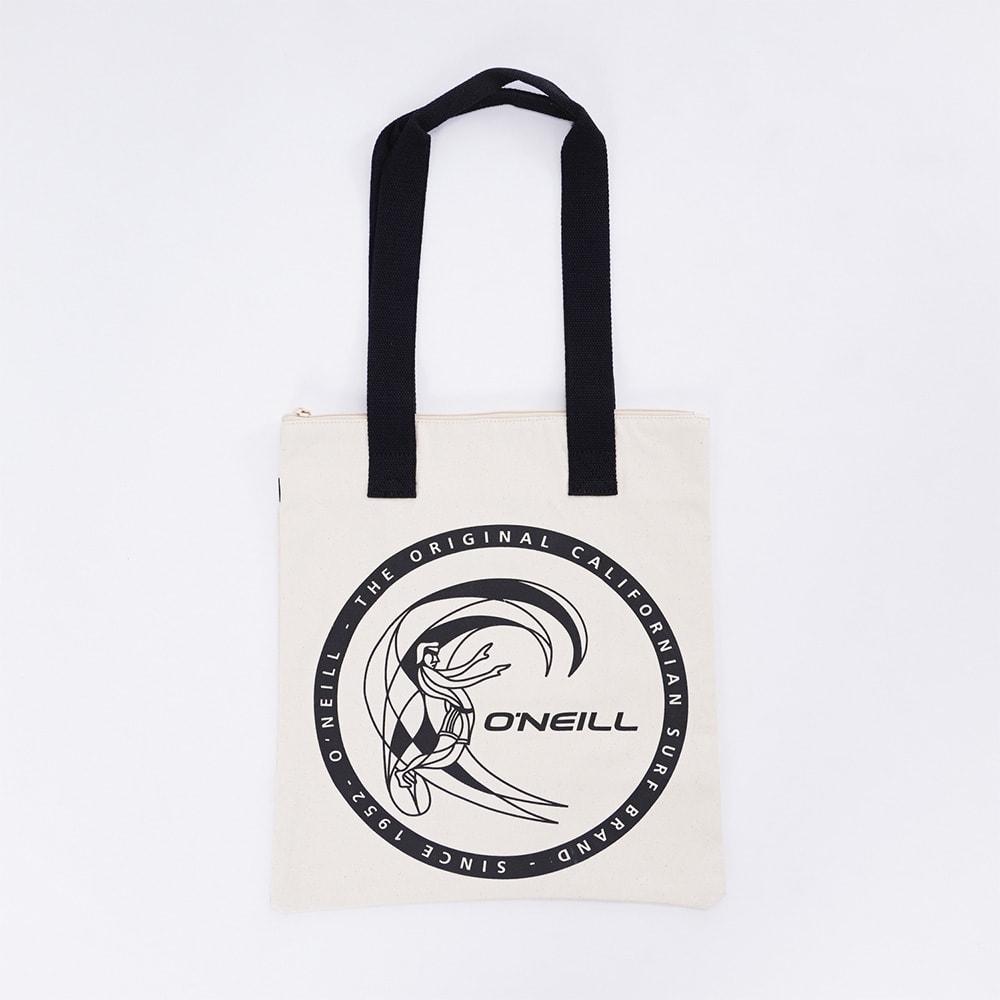 O'NEILL(オニール)/コットン素材ファスナー付きトートバッグ (イ)ホワイト