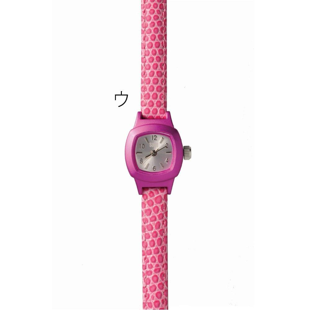 シロ エノグ ウォッチシカク 腕時計[SIRO] ウ:ショッキングピンク