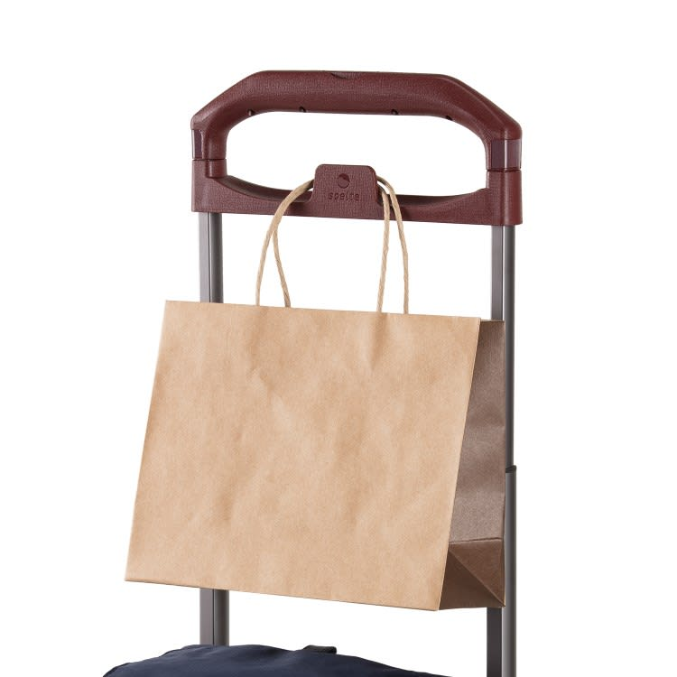 soelte(ソエルテ)/カランド 普段のお出かけをしっかり支えるキャリーケース(大) お持ちの鞄や袋を掛けられる新開発ハンドル一体型フック(画像はリゾルート別シリーズのものです)