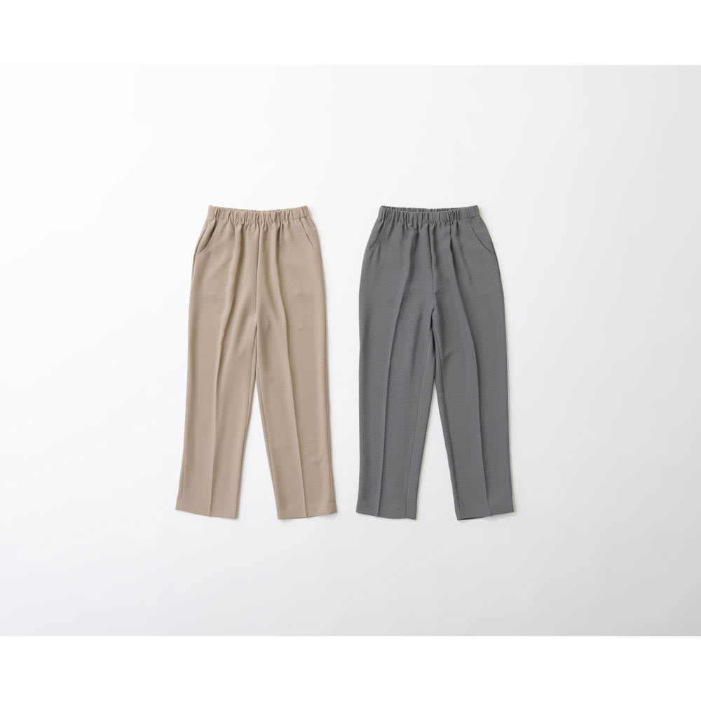 カインドケア/くつろ着パンツ杢調 婦人 グレー/ベージュ M~LL シニア&シルバー用品
