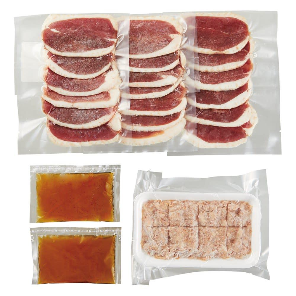青森県産 鴨鍋セット 商品パッケージ